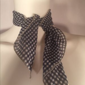 Navy Blue and White CheckerBoard Scarf!